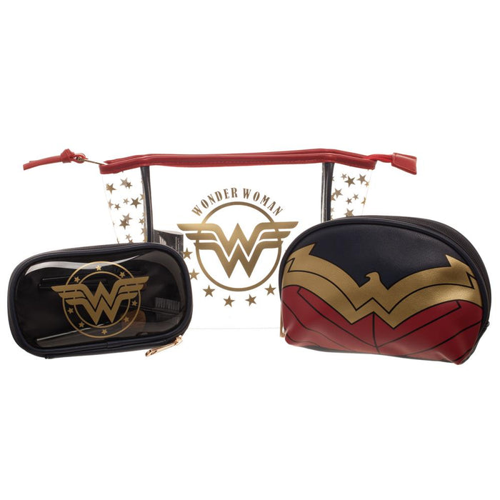 DC Comics Wonder Woman 3pc Cosmetic Travel Set