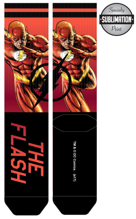 DC Comics The Flash Over Knit Sublimated Socks