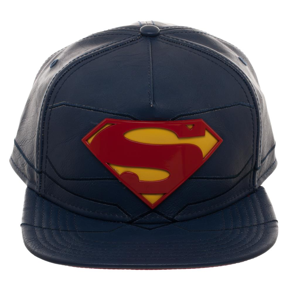 Superman Rebirth Suit Up Leather Snapback Cap
