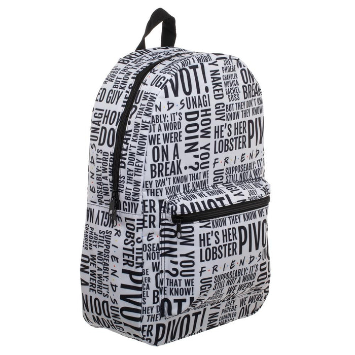 Friends Quote All Over Print Backpack