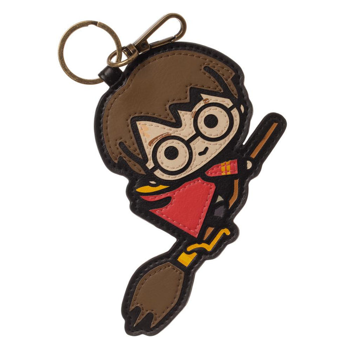 Harry Potter Layered Leather Keychain