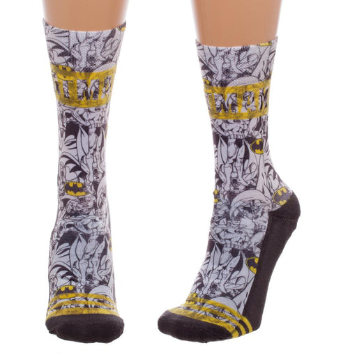 Batman Sublimated Juniors Crew Socks