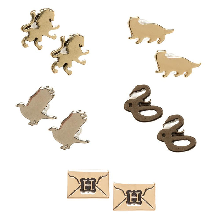 Bioworld Harry Potter 5pc Hogwarts House Earring Set