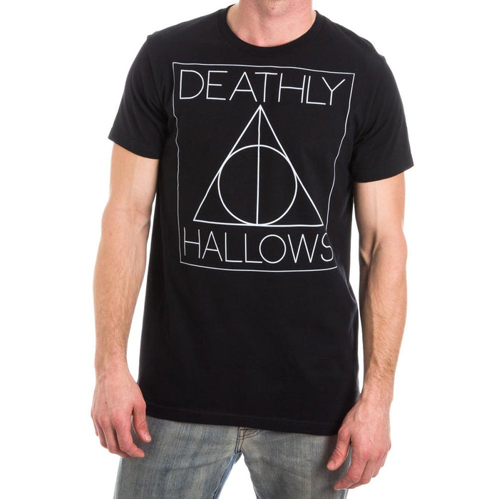 Bioworld Harry Potter Deathly Hallows Symbol Mens T-Shirt