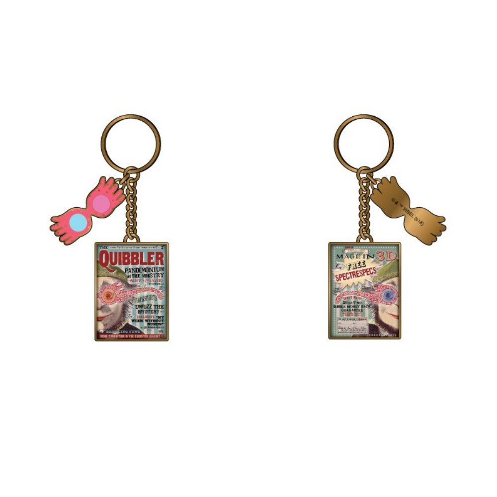 Bioworld Harry Potter Luna Quibbler Magazine Keychain