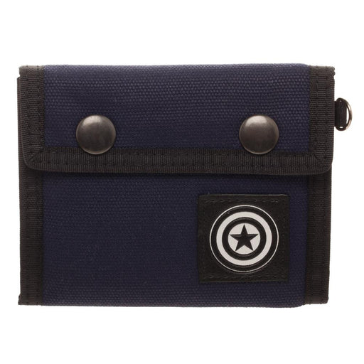 Bioworld Marvel Captain America Fabric Snap Trifold Wallet
