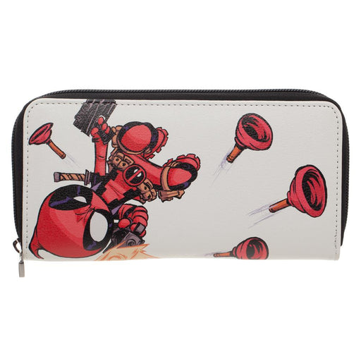 Bioworld Marvel Deadpool Plunger Zip Around Wallet