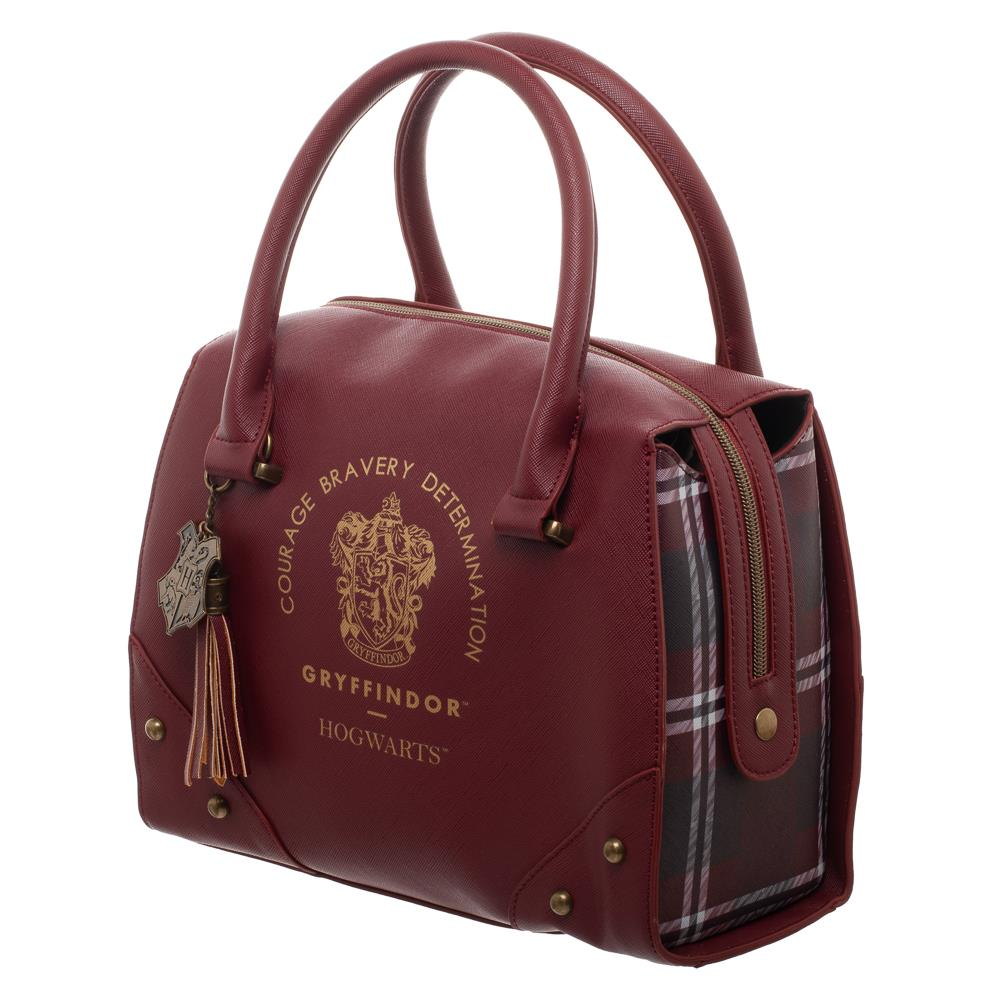 Bioworld Harry Potter Gryffindor Luxury Plaid Top Handbag