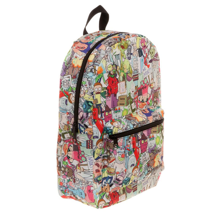 Bioworld Rick & Morty AOP Characters Sublimated Backpack