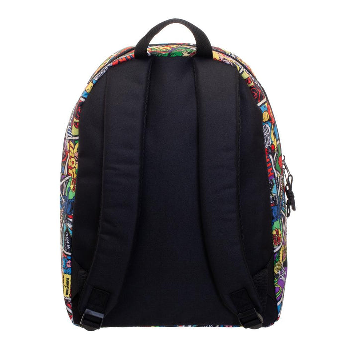 Bioworld Marvel Card AOP with Marvel Brick Logo Backpack
