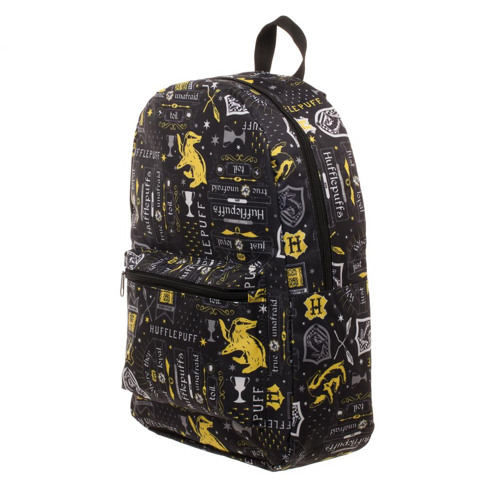 Bioworld Harry Potter Hufflepuff Icon Print Backpack