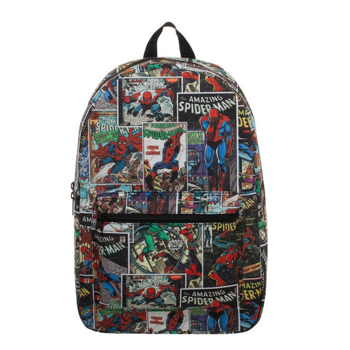 Bioworld Marvel Spiderman All Over Print Comic Sublimated QuickTurn Backpack