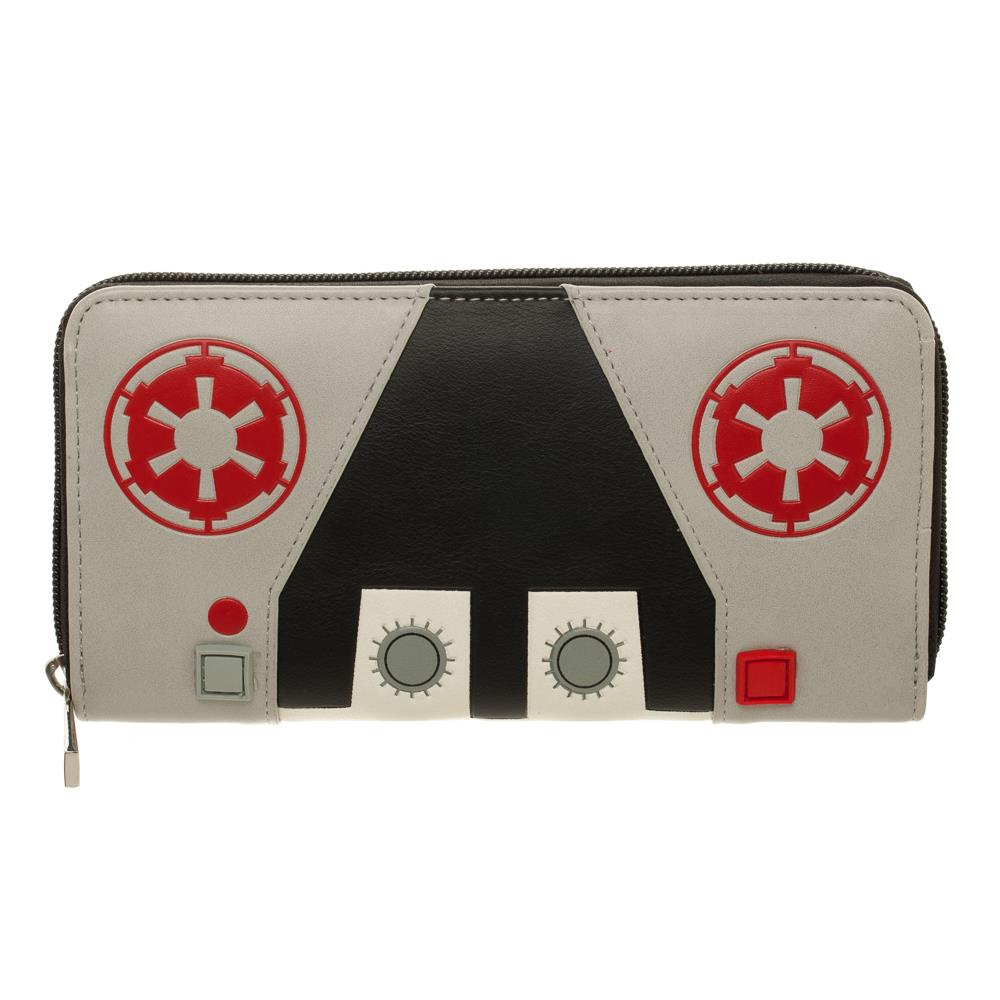 Bioworld Star Wars AT-AT Pilot Zip Around Purse