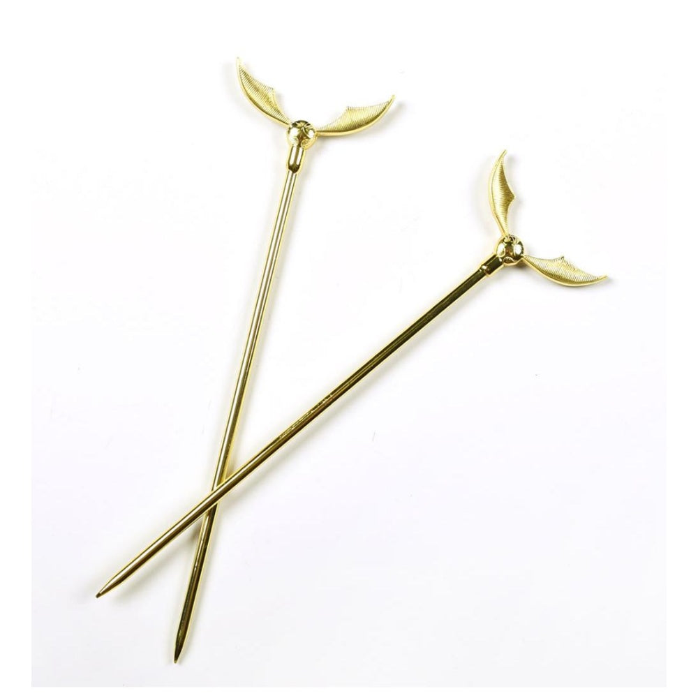 Bioworld Harry Potter Golden Snitch Hair Sticks