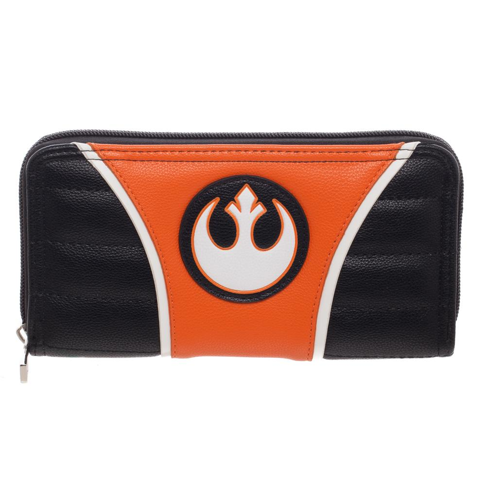 Bioworld Star Wars Rebel Jrs Zip Around Purse