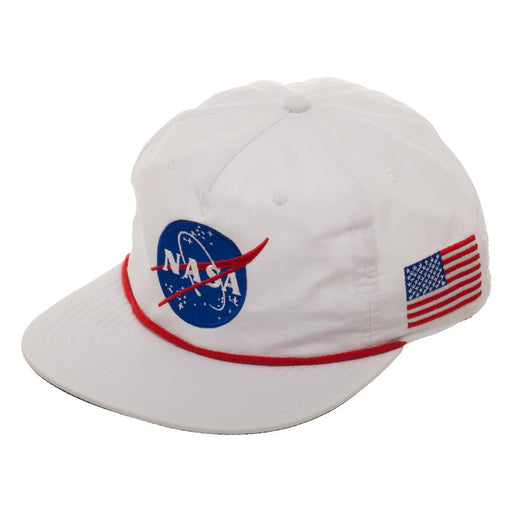 Bioworld NASA USA Logo 5 Panel Slouch Snapback