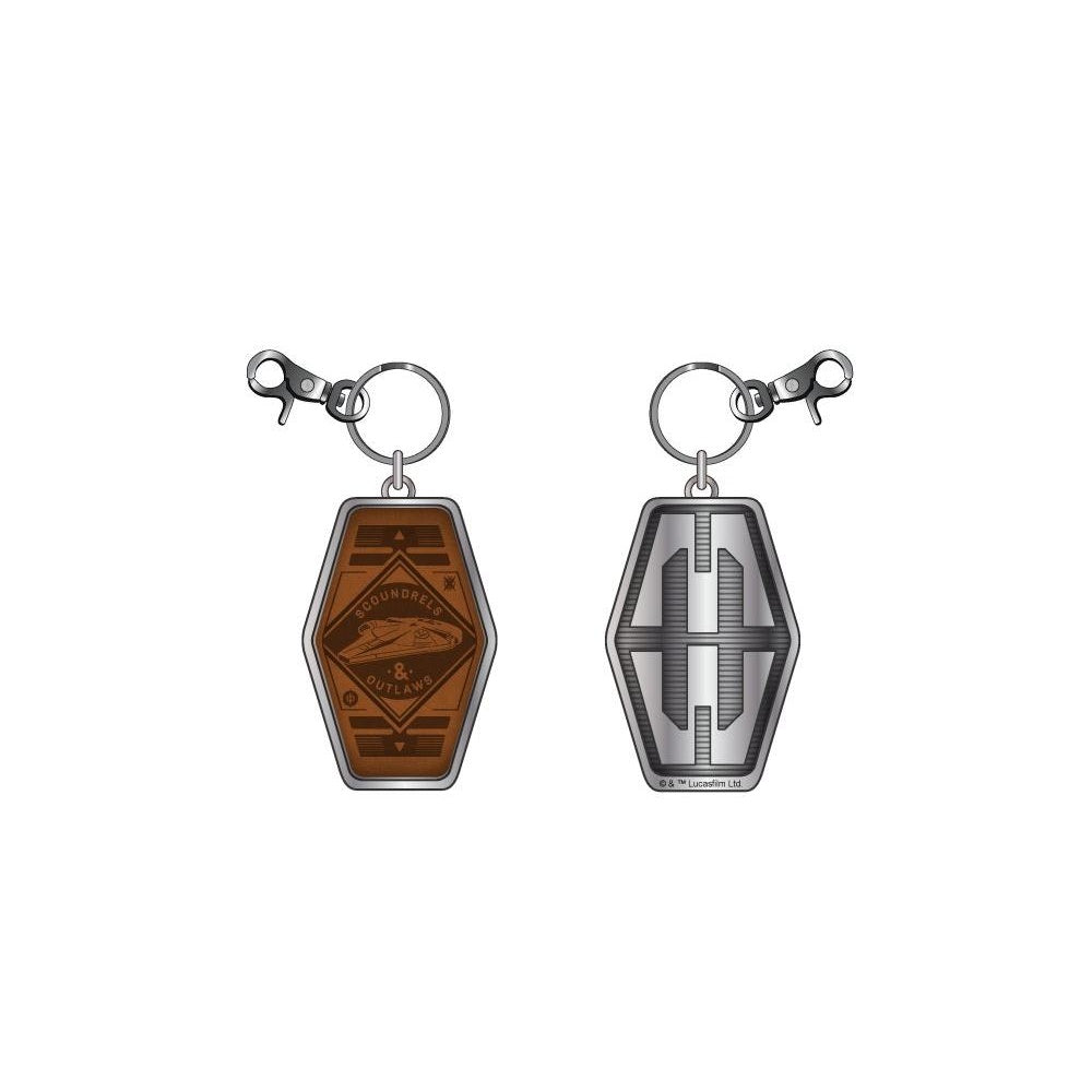 Bioworld Star Wars Han Solo S & O PU Leather Keychain