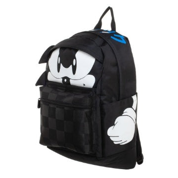 Bioworld SEGA Sonic the Hedgehog Black/Grey Checkered Backpack