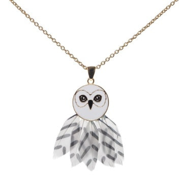 Bioworld Harry Potter Hedwig Feathered Necklace