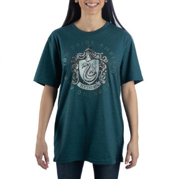 Harry Potter High Density Text Green Slytherin T-Shirt