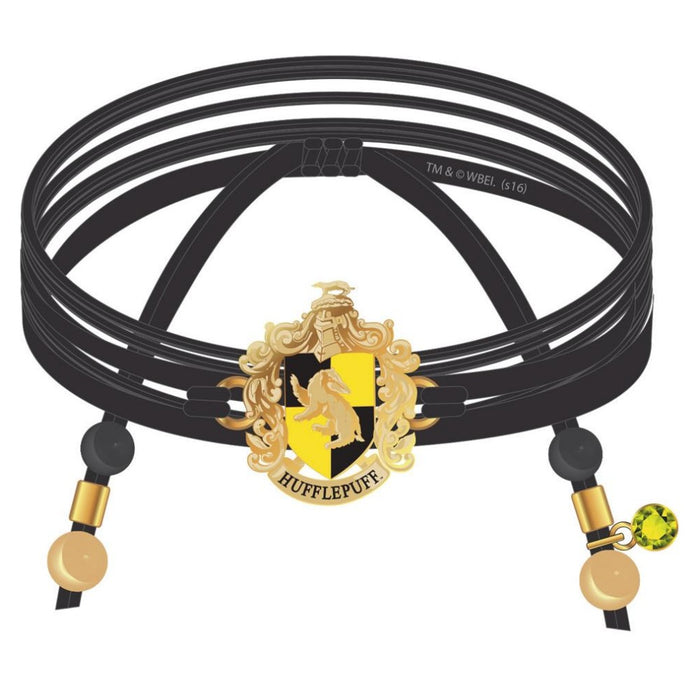 Harry Potter Hufflepuff Suede Wrap Bracelet
