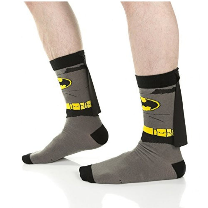 Batman Suit Inspired Crew Socks with Cape