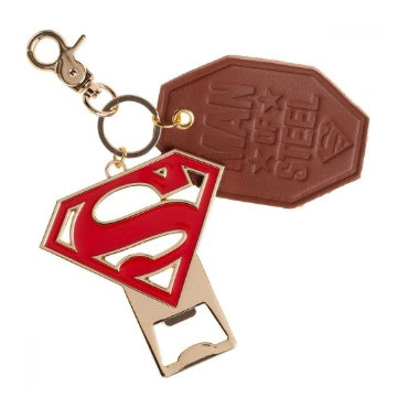 Superman Logo and Bottle Opener Keychain