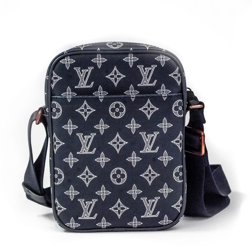 93391b88a6b2f ... Louis Vuitton Danube Pm Monogram Upside-down Ink Navy Coated Canvas  Cross Body Bag ...