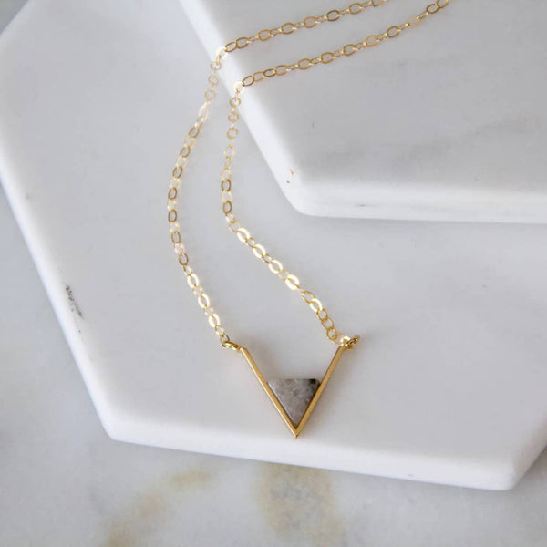 Labradorite Triangle Necklace - StyleMeGHD