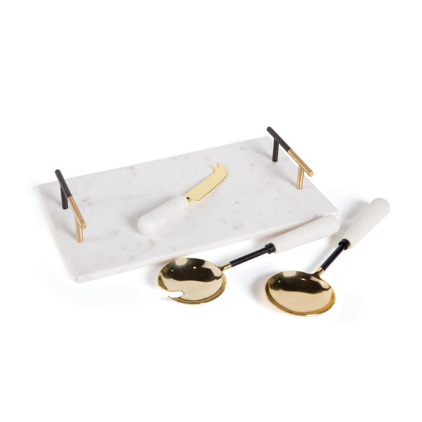 GOLD FOIL SERVING SET