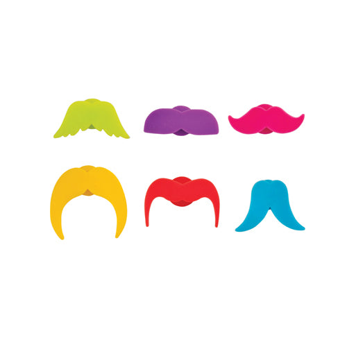 Mustache You A Question Charms (Set Of 6) - StyleMeGHD