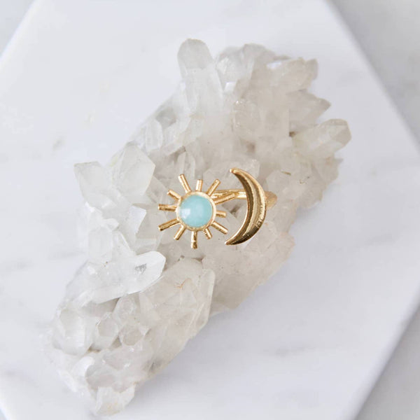 Amazonite Sun And Moon Ring - StyleMeGHD