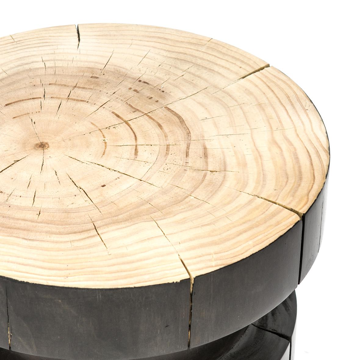 Inez End Table-Natural Pine/Black Pine - StyleMeGHD