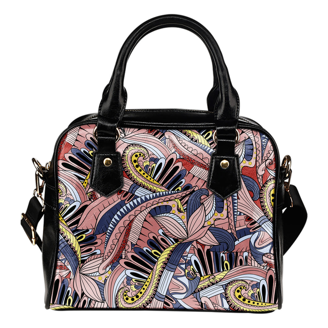 Funky Patterns in Pinks - Shoulder Bag