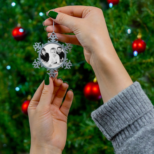 Personalised family Pewter Snowflake Ornament