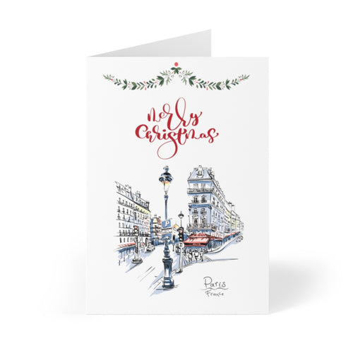 A home in France - Paris Personalised Christmas Cards (8 pcs)