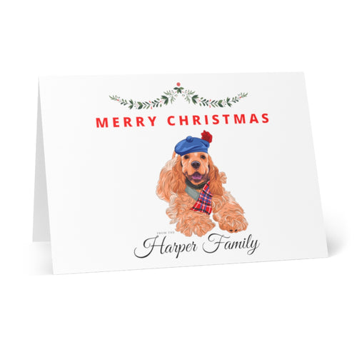Labrador Personalised Christmas Greeting Cards