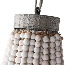 Load image into Gallery viewer, LANI - Retro white lime wooden bead pendant light, chandlier