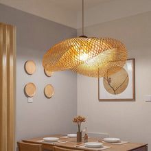 Load image into Gallery viewer, AUDE - Hanging bamboo lampshade
