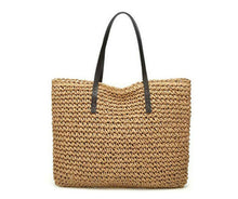 Load image into Gallery viewer, Dordogne - French handmade, rattan bag lined with straps