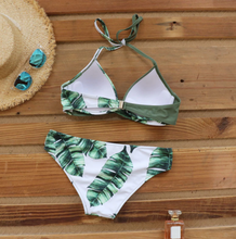 Load image into Gallery viewer, Palm leaf design, Push Up French Bikinis - perfect for Summer