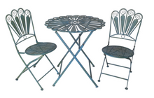 Load image into Gallery viewer, Jardinette metal vintage table and chairs