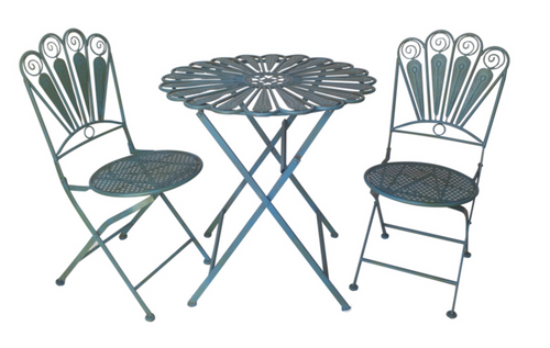 Jardinette metal vintage table and chairs