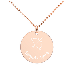 Personalised French 'In Love depuis' necklace
