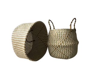 A home in France - rattan baskets, Gold neutrals