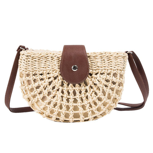 LUNE is an elegant, half moon,natural French, crossbody bag