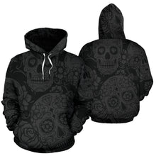 Load image into Gallery viewer, Dark Sugar Skull Hoodie