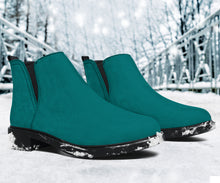 Load image into Gallery viewer, Vegan Teal Fashion Boots