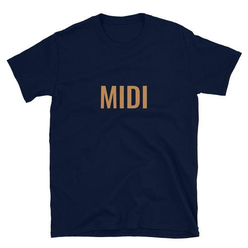 MIDI T-shirt, in French navy, Short-Sleeve Unisex T-Shirt