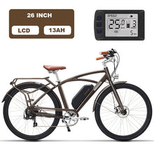 Load image into Gallery viewer, Luxury 26inch, electric, retro bicycle